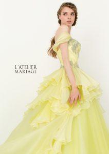 結婚式で花嫁がレンタルするイエローのドレス