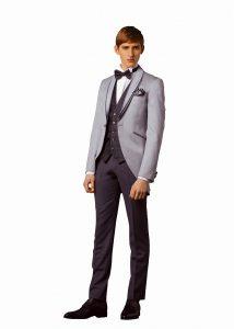 結婚式で新郎がレンタルするグレーのモーニングコート714