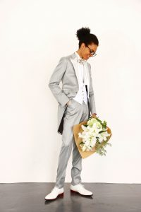 結婚式で新郎がレンタルするグレーのモーニング716