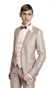 結婚式で新郎がレンタルするピンクのベスト721