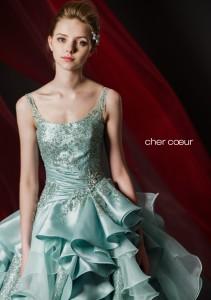 結婚式で花嫁がレンタルするグリーンのドレス