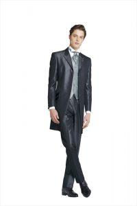 結婚式で新郎がレンタルする黒のフロックコート841