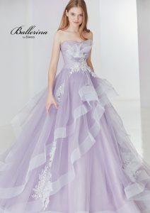 ライラックカラードレス