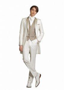 35105f6d3f108 ... 結婚式で新郎がレンタルする白いタキシード