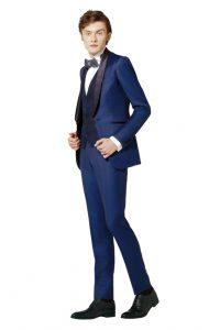 結婚式で新郎がレンタルするネイビーブルーのタキシード20347