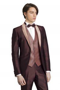 新郎が結婚式でレンタルするブラウンのタキシード20373
