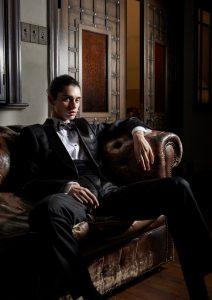 結婚式写真でレンタルするタキシード20333黒