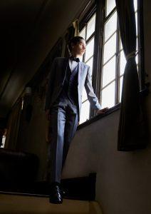 結婚式写真でレンタルするタキシード20354グレー