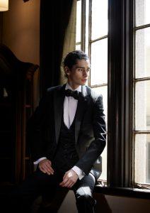 結婚式写真でレンタルするタキシード20382黒